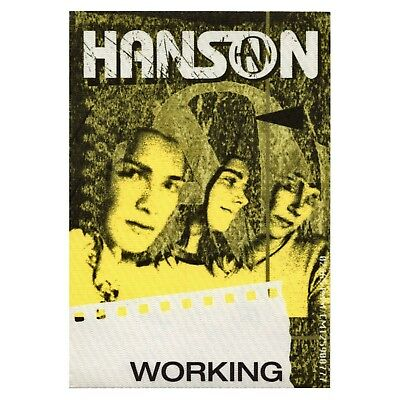 Hanson authentic Working 2000 tour Backstage Pass