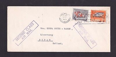 Malaya Singapore 1964 2nd Class Airmail Cover to Netherlands with Slogan Pmk