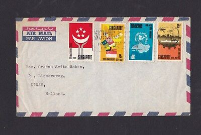 Malaya Singapore 1969 Airmail Cover to Netherlands with Slogan Pmk