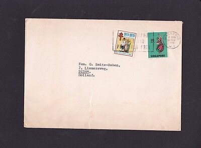 Malaya Singapore 1970 Airmail Cover to Netherlands with Xmas Stamp&Slogan M1 Pmk