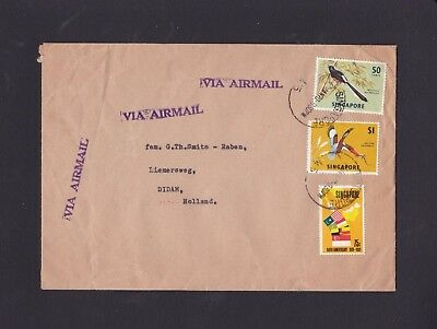 Malaya Singapore 1970 Airmail Cover to Netherlands with M5 CDS