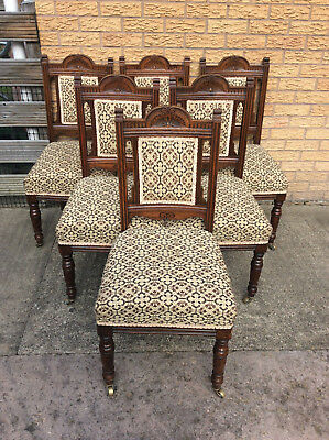 Matching set of 6 Antique Oak Dining chairs by Chamberlain, King & Jones Cabinet