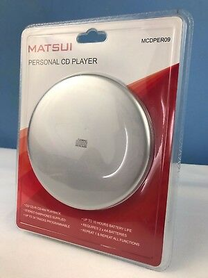 Matsui MCDPER09 Portable Personal Compact Disc Player CD-R/RW Playback NEW RARE