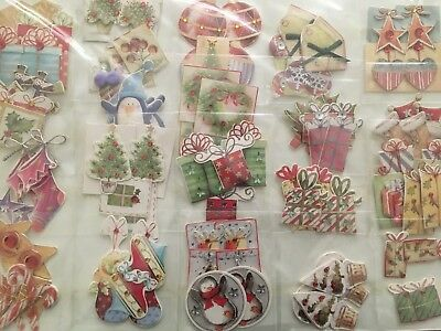 Job Lot 100 Xmas Card Making Toppers Penguin Present Candy Stick Baubles Tree