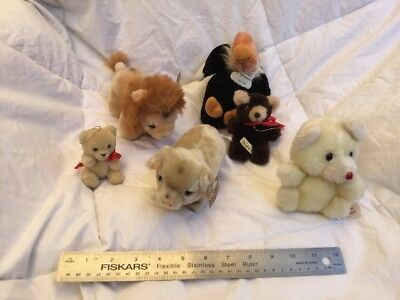 Various Stuffed Animals, One May Be A Steiff