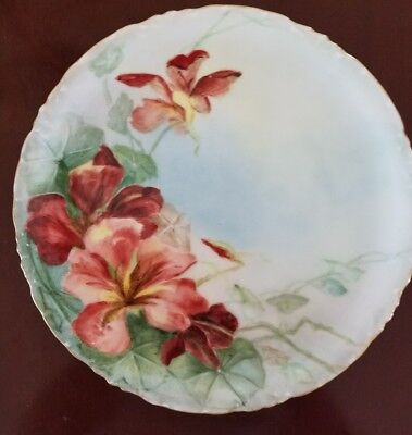 Antique Hand Painted Plate  Versailles Bavaria Signed & Dated