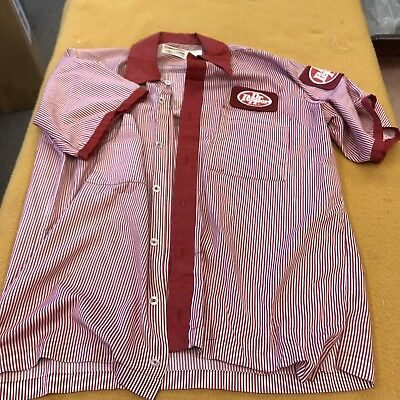 Vintage Dr. Pepper Delivery Man Uniform Shirt-m