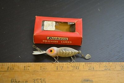 nice old dickson whopper stopper lure minnow bait in the box