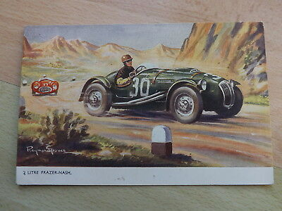 Rare Post Card Of A 2 Litre Frazer-Nash By Raymond Groves Dated 1958