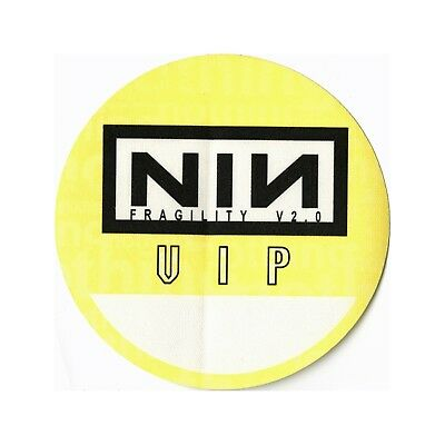 Nine Inch Nails authentic 1999 Fragility Tour satin Backstage Pass VIP yellow