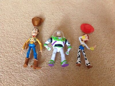 Toy Story Figures Set Of 3 - Buzz - Jessie and Woody - 15cm