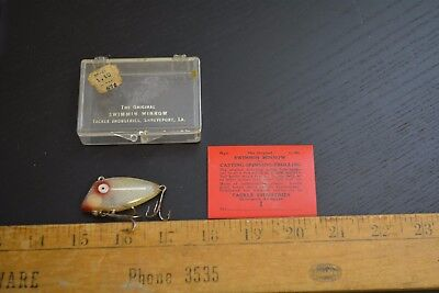 nice old tackle industries swimmin minnow lure bait nice color box paperwork #1