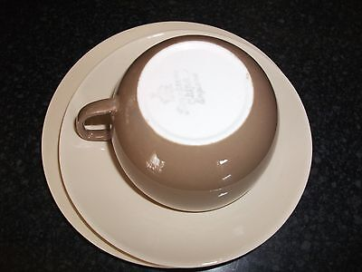 2x Branksome China Cappuccino Cup Trio: Side Plate, Cup and Saucer