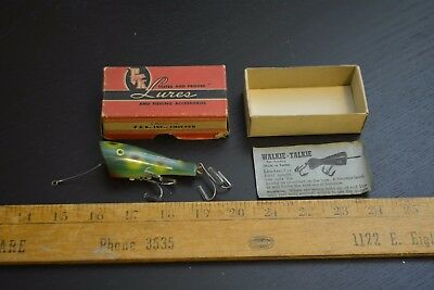 nice old p&k spinning walkie talkie lure minnow bait in the box #1