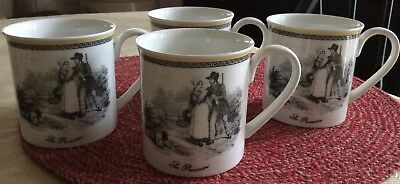 villeroy boch Audun Chasse Set Of 4 Coffee Mugs Mint