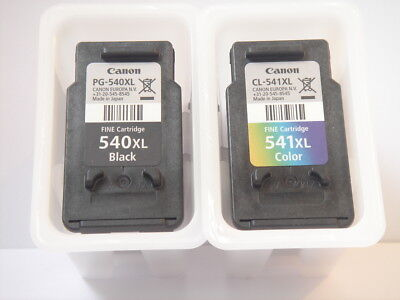 Empty Original Genuine Canon Ink Cartridges - 540LX & 541XL - Used Once Only .