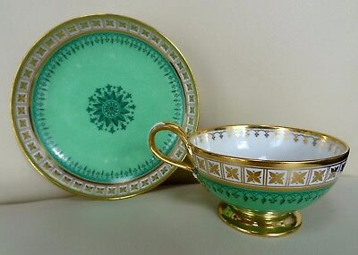 Stunning Sevres Porcelain Cabinet Double Loop Cup & Saucer Dated 1836 #2