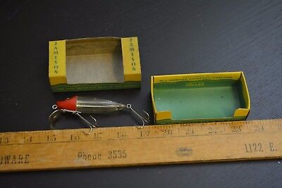 nice old jamison quiverlure river runt in the box great colors