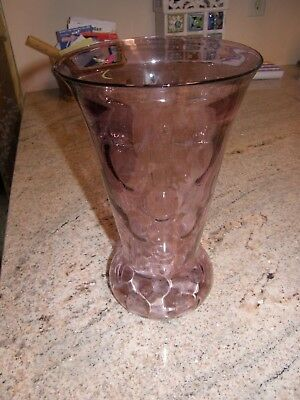 "Paden City Tiffin 12"" Mulberry/Lilac Popeye & Olive Bulbous Bottom Vase"
