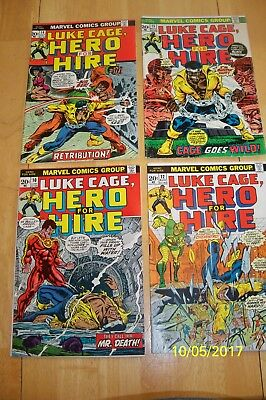 Hero For Hire, Luke Cage 10,12,14,15  4 Issue Lot  Marvel Comics