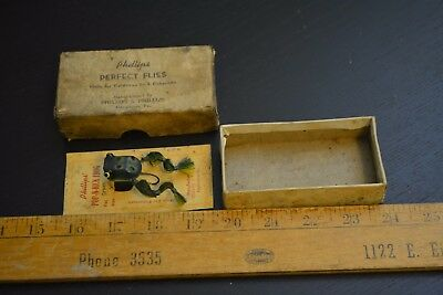 nice old phillips pop n kick fly rod frog lure minnow bait the box on the card