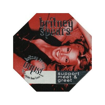 Britney Spears authentic Support Meet & Greet 2000 tour Backstage Pass