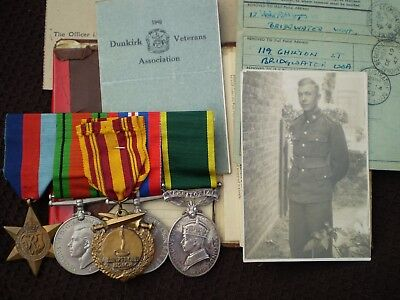 The  Crabb Family's WWI & WWII Medals and Documents.