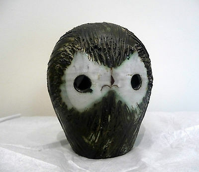 Larger vintage Briglin studio pottery owl figure  money box.  12.5cms high
