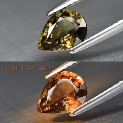 1.29ct 7.6x5.8mm Pear Natural Unheated Color Change Garnet, Africa