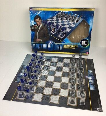 Doctor Who Lenticular Animated Chess Set Complete