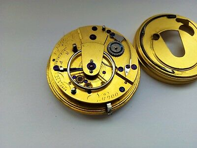 High Grade Antique J. Jacobs Hull Fusee Mechanical Pocket Watch Movement Runs