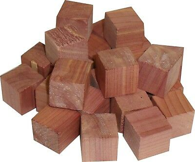 Cedar Wood Cubes 24 pcs Natural Moth Insect Repeller.  Oreginal Texas Ceder Wood