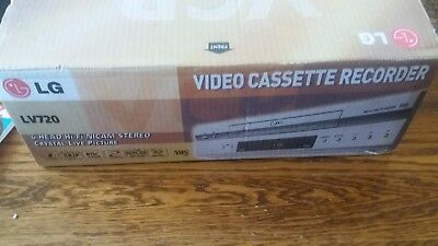 G LV720 VHS VCR Video Recorder Player in Box New? (Relisted 99p no Reserve)
