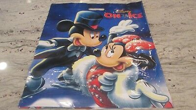 New- Walt Disney On Ice -Mickey & Minnie Logo Gift Bag-2-Sided Size17 1/2 X21""