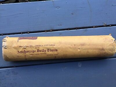 Anchorage Daily Times Newspaper. Never Opened New Old Stock
