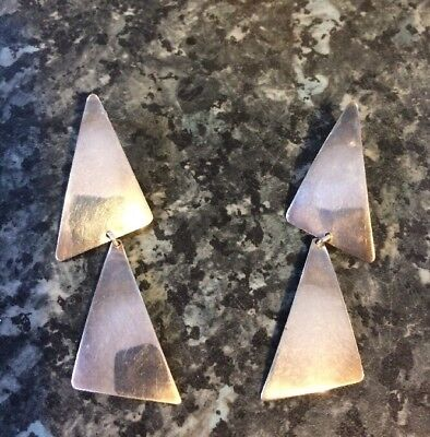 1960s Danish Sliver Kap Earrings