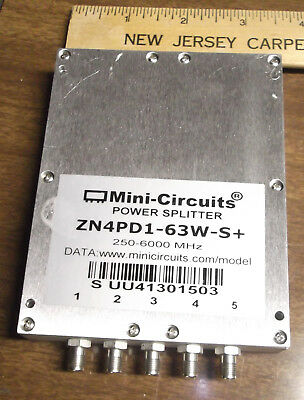 MINI CIRCUITS ZN4PD1-63W-S+ POWER SPLITTER COMBINER EXCELLENT CONDITION 6 GHz