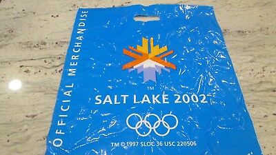 New- Salt Lake City 2002 Winter Olympics Logo Shop Bag 2-Sided Size= 17 1/2 X20""