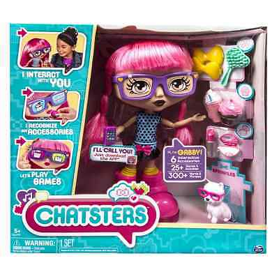 Chatsters - Gabby Interactive Talking Doll with 6 Interactive Accessories