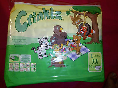 Crinklz Slip Alte Version Pampers AdultBaby Folie Windelhose Rarität