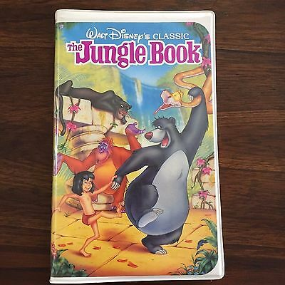 Walt Disney Classic Movie THE JUNGLE BOOK VHS Black Diamon  (Y)