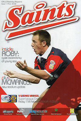 St.helens V Widnes Vikings Rugby League Programme & Dvd 11-2-05