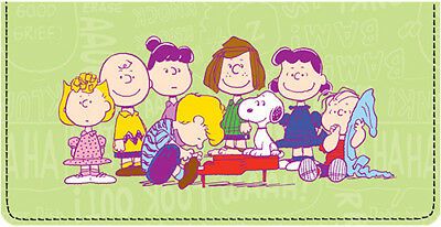 Charlie Brown & Friends Leather Checkbook Cover