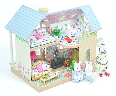 *fistuff* Sylvanian Families XMas Decorated Riverside Lodge/House Family + Lots