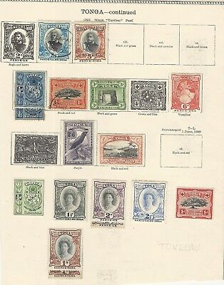 Tonga: Small lot, some repeated, hinged used, some adherence paper, ...TG222