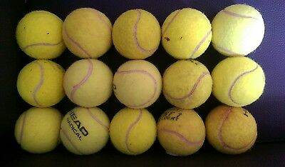 15 Used Tennis Balls - For Children's Ball Games / Dog Toy.