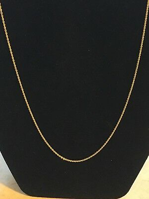 14k yellow gold rope necklace. 18in and 3.45grams. Not Scrap??
