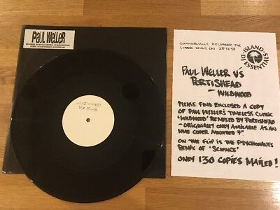 "Paul Weller - 12"" Promo Vinyl - Portishead Wildwood / Science - The Jam"