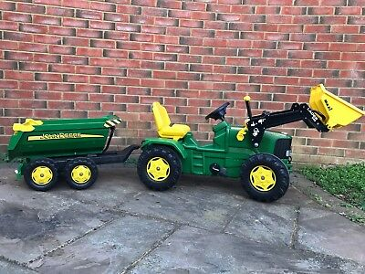 Rolly Toys John Deere Ride On tractor and trailer