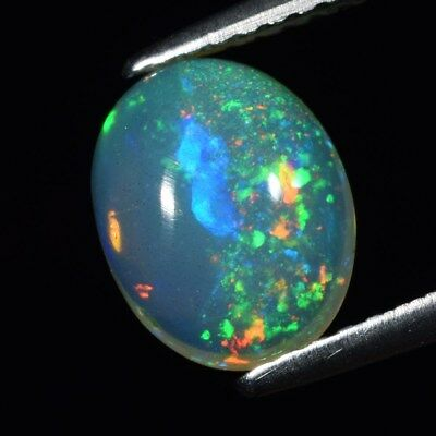 Good Flash 1.21ct Oval Cabochon Natural Play-of-Color Crystal Welo Opal Ethiopia